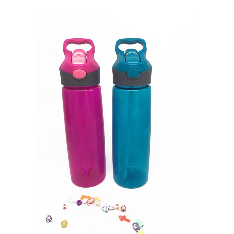 欧美新款吸管杯子 运动水壶  塑料杯 百货日用品水杯logo定制