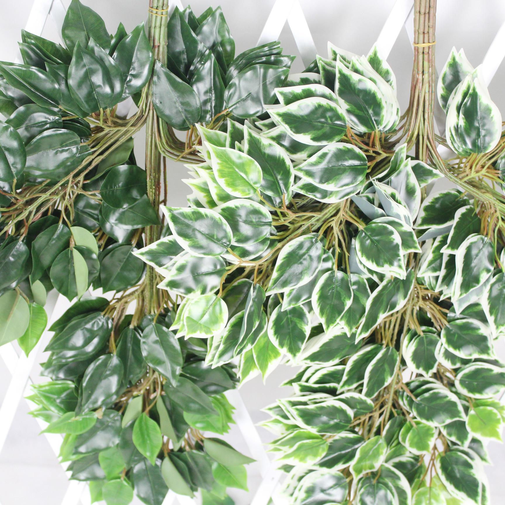 仿真榕树叶胶榕手感榕树枝假树叶榕树仿真叶子园林工程植物装饰