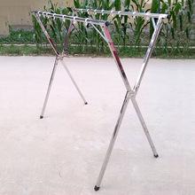厂家销售伸缩不锈钢折叠落地晾衣架 移动式X型地摊架
