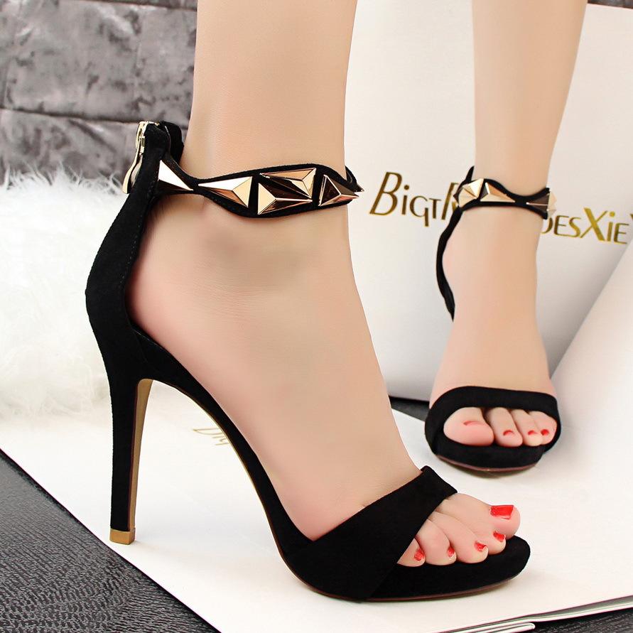 Europe summer fashion designer shoes sexy nightclub sandals