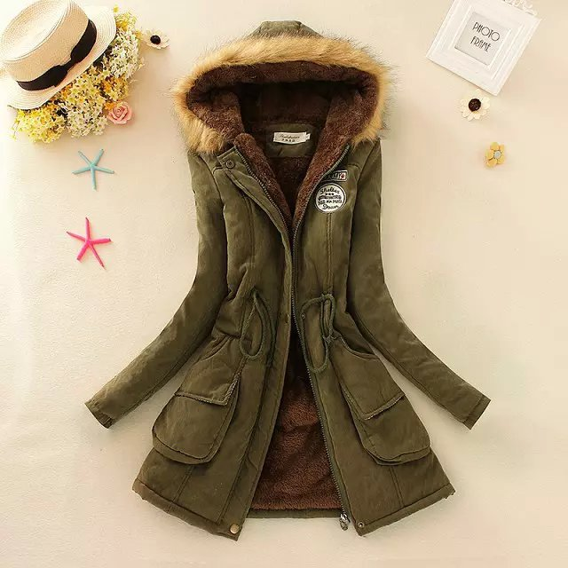 2020冬季新款韩中长款棉衣 女大毛领羊羔绒外套加绒加厚宽松棉服