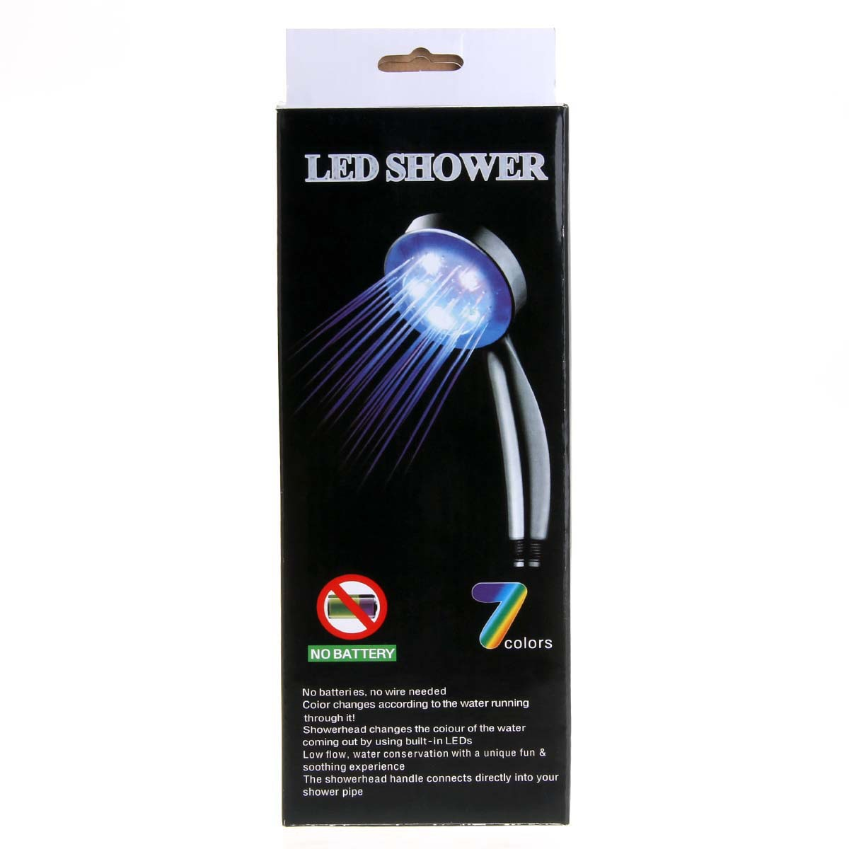 Wholesale Supply Led Light Shower Colorful Flashing Shower Head Led Shower Temperature Control Color Spray Head