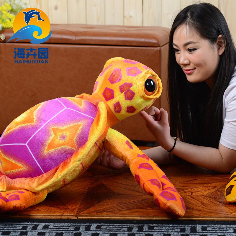 乌龟海洋毛绒玩具 个性抱枕大眼?#26198;?#23043; 短毛绒靠枕创意礼品批发