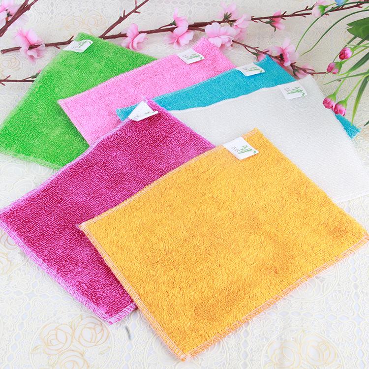 T洗碗布不沾油抹布 竹纤维洗碗巾 竹炭去油污百洁布 清洁用品批发