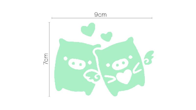 Acheter Decorer La Maison Bricolage Cochon Art De Dessin Anime Lueur Sticker Mural Decoration Stickers Peinture Murale Amovible Decor Papier Peint G