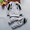 2016 autumn children's clothes on behalf of a wholesale set of Boys Cotton zebra long sleeved suit of two sets