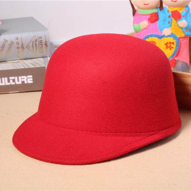 光板纯色毛呢帽 秋冬新款时尚马术棒球帽子 女士礼帽批发