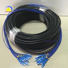 布線專用SC-SC單模12芯GYXTW/GYTS室外鎧裝防水抗拉光纖跳線100米
