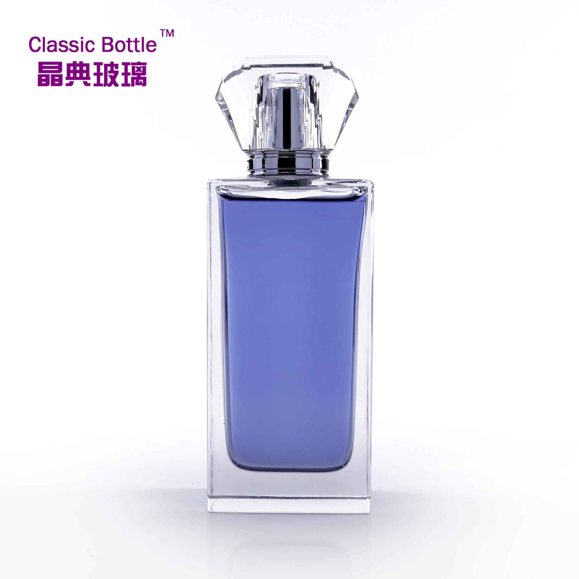 瓶厂制作水晶瓶 100ML 新品人体香水玻璃瓶 定做化妆品抛光瓶子