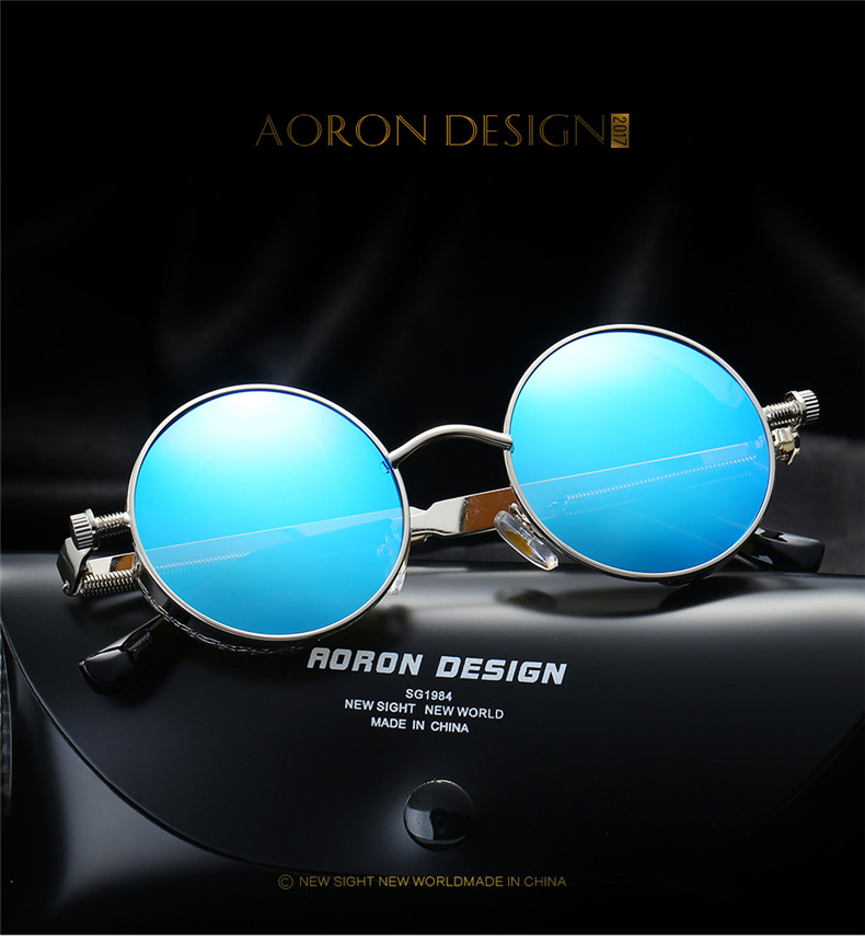 Sunglasses Not Made In China  vintage polarized steampunk sunglasses fashion round mirrored