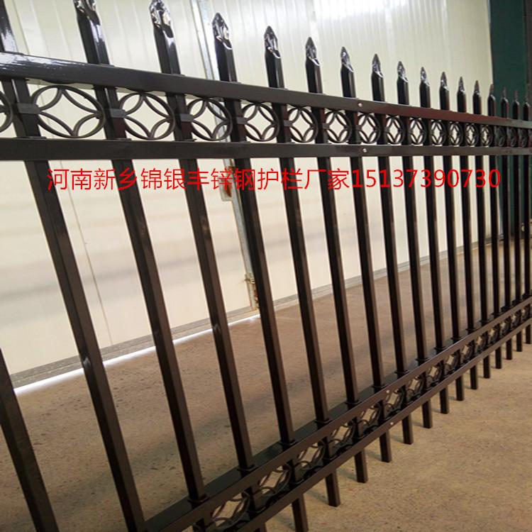 热镀锌喷塑组装围墙护栏,锌钢组装护栏厂家