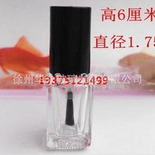 指甲油瓶子5ml玻璃高透明空瓶甲油分裝瓶加厚補漆膠水瓶帶刷批發