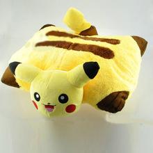 宠物小精灵神奇宝贝皮卡丘抱枕 折枕玩偶动漫周边毛绒玩具