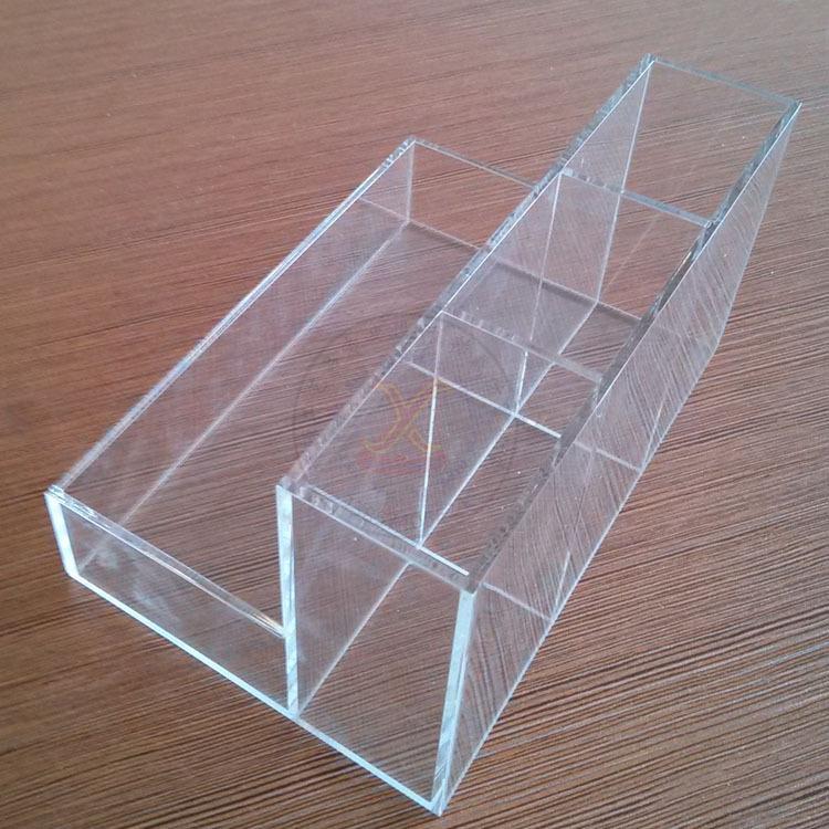 厂家供应 亚克力化妆品盒子 台面收纳盒 有机玻璃储物盒批发订做