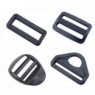 Manufacturers stock black plastic luggage accessories adjusting buckle, seat belt day buckle, mouth buckle, D buckle