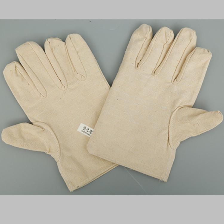 铁汉帆布手套 全棉帆布防护耐磨电焊手套批发反扣大拇指
