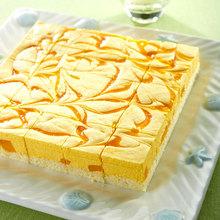 芒果慕斯方块蛋糕酒店宴会茶歇专用冷冻蛋糕全国配送