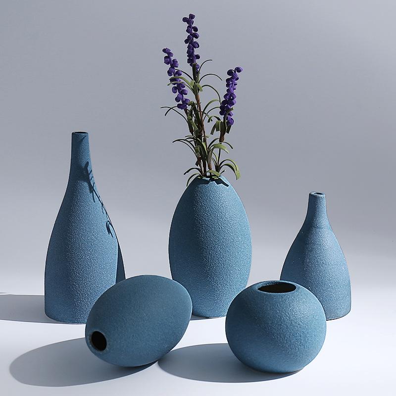 批发创意北欧陶瓷花瓶摆件家居装饰品客厅桌面摆件欧式干花花器