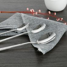 好厨夫不锈钢汤勺 厂家直销餐厅餐具 一枝梅西餐咖啡勺 勺子批发