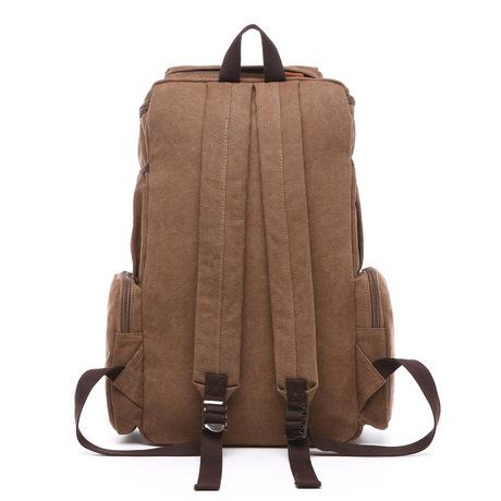 Ba lô máy tính công suất lớn túi vải sinh viên nam và nữ gói chức năng du lịch ngoài trời màu đặc bán buôn