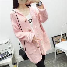 Áo len Cardigan nữ thời trang, kiểu dáng mới nữ tính, phong cách Hàn