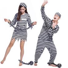 萬圣節Cosplay服裝 男女搞怪表演服 暴力男囚 誘惑女囚犯演出服裝