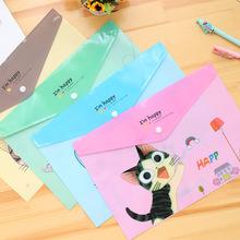 可爱动物塑料A4试卷文件袋 透明文件夹 卡通动物PVC文件袋批发