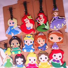公主系列 白雪 灰姑娘 索菲亚童话公主造型行李牌 箱包吊牌