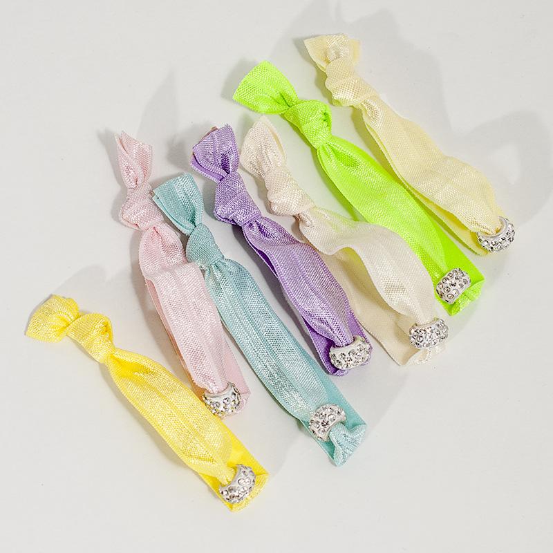 工厂直销定制赠品潘朵拉珠Hair tie松紧发圈混批现货打结发带