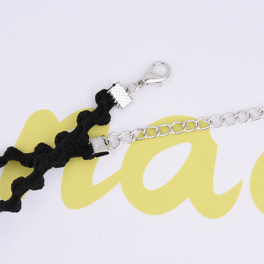 Korean fashion necklace lace wavy short necklace jewelry accessories necklace NHVA180797