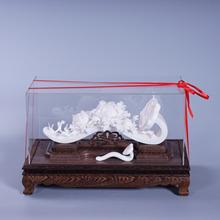 德化白瓷工艺品摆件 中式高档商务礼品 如意吉祥瓷雕 陶瓷工艺品
