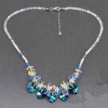 水晶饰品批发 心水晶项链 新娘套链 韩国饰品欧美流行饰品速卖通
