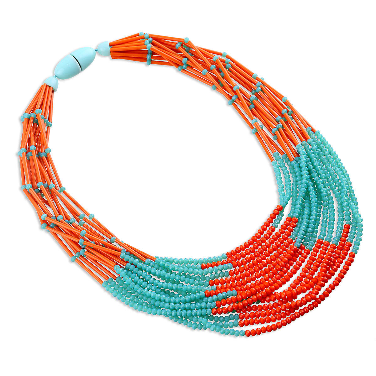 Occident and the United States Glassnecklace (Orange)NHKM2401