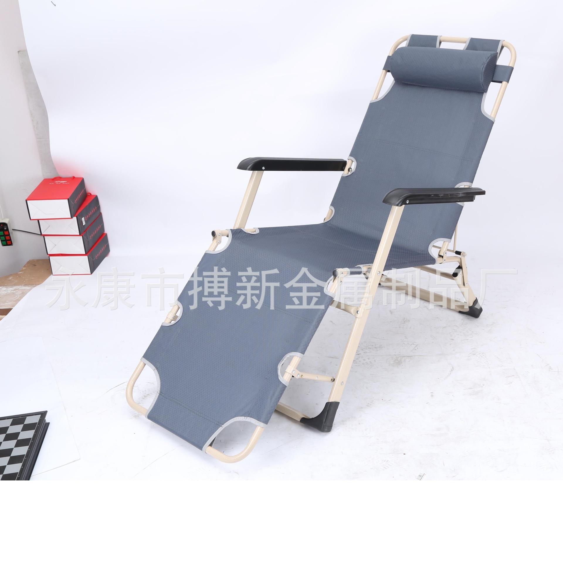 厂家直销户外休闲沙滩椅 办公室多功能午休椅 便携式折叠躺椅批发