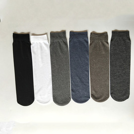 New summer silky cotton straight stockings fashion simple solid color socks sweat-absorbent feet men's socks