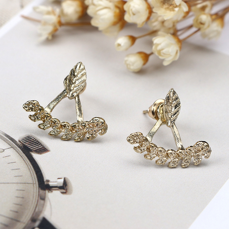 Europe and the United States alloy plating earring (Silver)NHGY0592-Silver