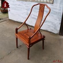 新中式书桌椅子刺猬紫檀靠背椅定制花梨木餐椅工厂直销红木休闲椅