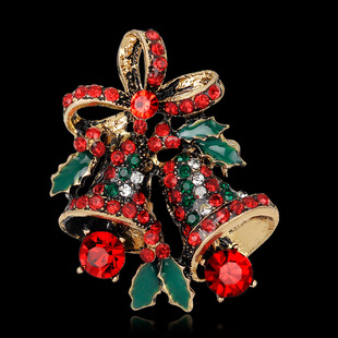 Christmas All-match Ornaments Hot-selling Christmas Bell Brooches in Europe and America