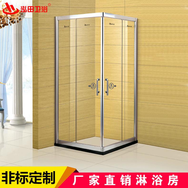 酒店浴室 隔断淋浴房 方形弧形扇型淋浴房 自洁钢化玻璃冲凉房