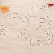 不锈钢无磁蒸架 多规格三角隔热架圆形蒸垫 2元店商品