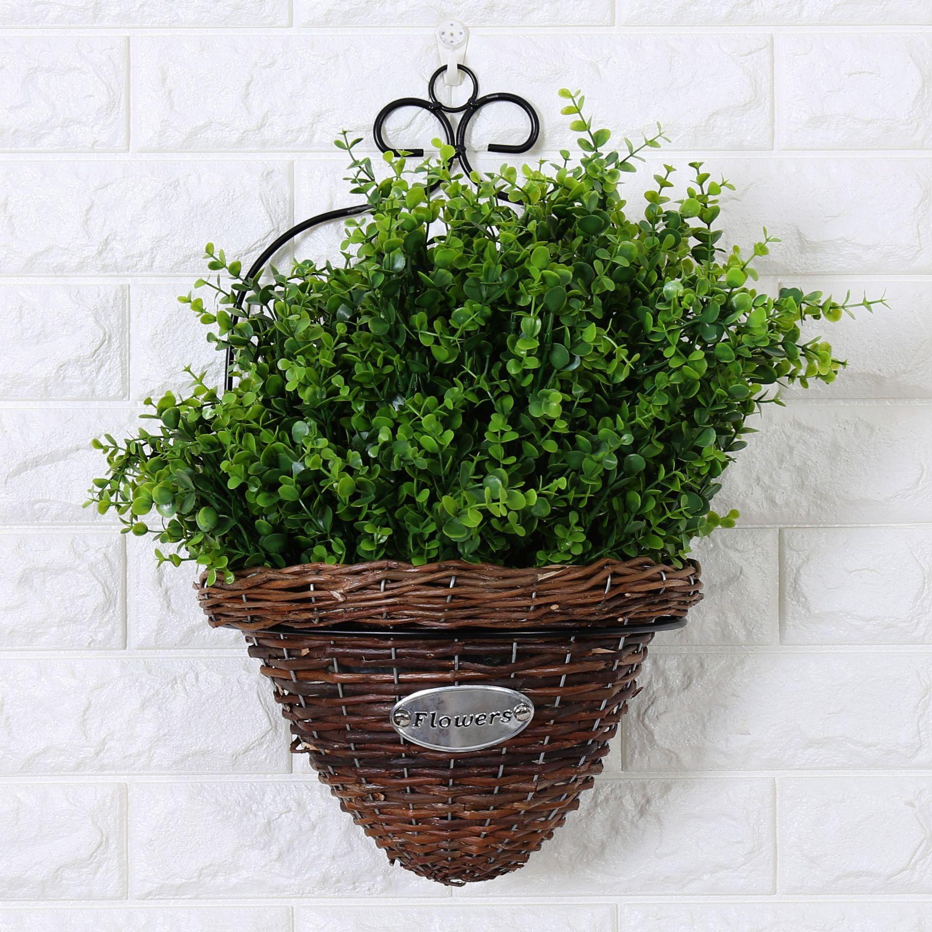 home garden wall mount planter flower grass hanging basket. Black Bedroom Furniture Sets. Home Design Ideas