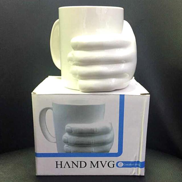 创意马克杯 手掌陶瓷杯 手握杯子 陶瓷手掌杯 HVND MVG杯 厂家