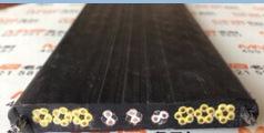 富宇专业生产,现货供应扁形单芯排列带屏蔽和光纤电梯电缆