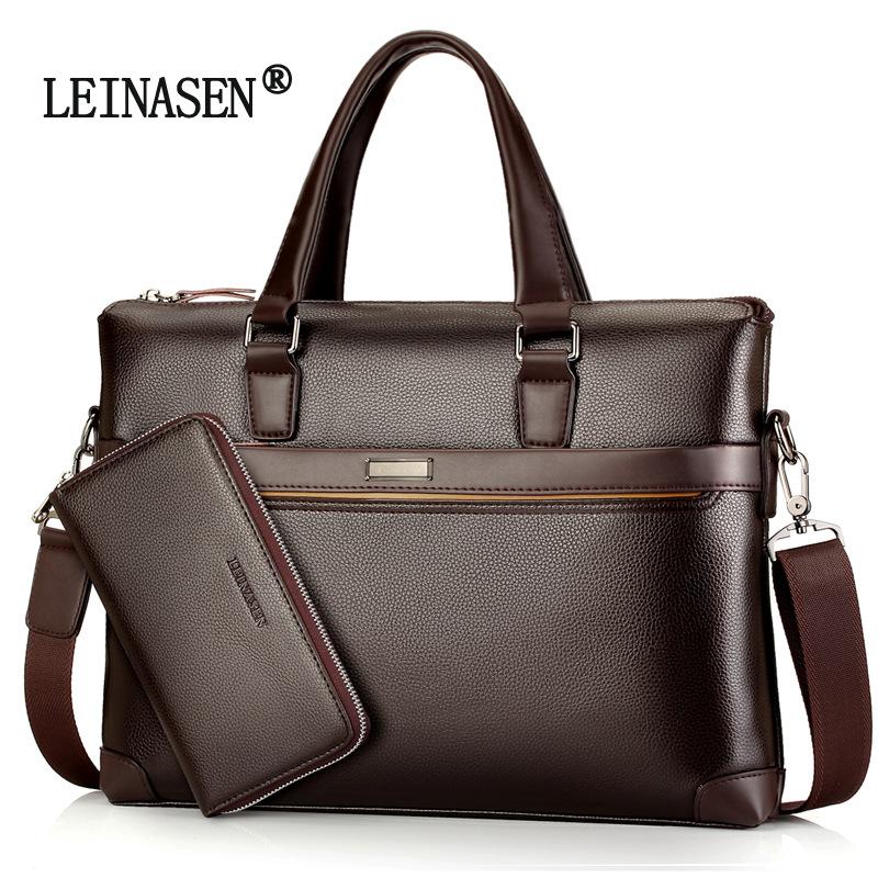 新款男包手提包公文包斜跨单肩 电脑包男士商务包跨境一件代发