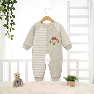 Baby conjoined clothes, autumn and winter thickening cotton, ha clothes, climbing clothes, long sleeve open file, baby,