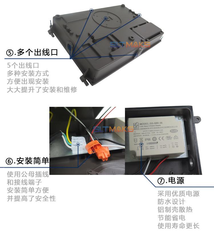 50Wled wall pack細節圖2 CE