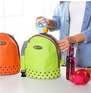 Factory direct portable heat preservation lunch bag cooler bag heat preservation bag heat preservation bag hand carry semicircle picnic bag