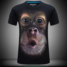 2019时尚创意立体图案  潮版T恤青少年印花男式短袖3DT恤大脸猩猩