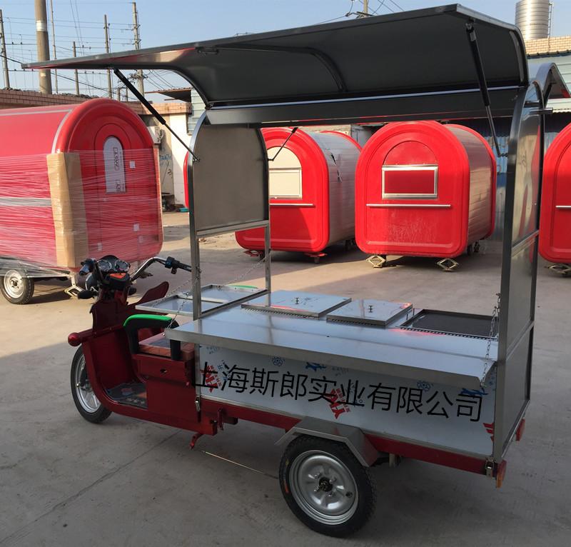 厂家生产电动简便式早餐车 麻辣烫关东煮车 煎饼炒粉车可加盟定做