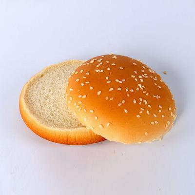 �A形�h堡面包胚 80���b 肯德基美式�h堡包西式快餐原料批�l